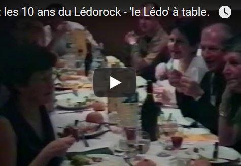 1998: les 10 ans du Lédorock – 'le Lédo' à table.